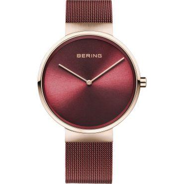 BERING Herren-Armbanduhr Analog Quarz rot 14539-363
