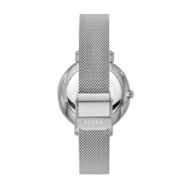 Fossil Damen-Armbanduhr Jacqueline analog Quarz mit Edelstahl-Armband ES4627