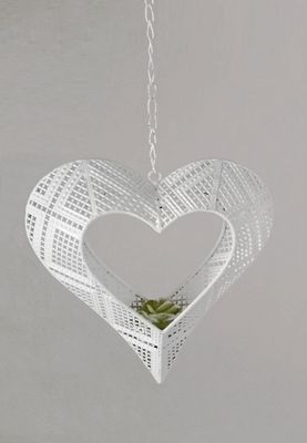 Formano Hänger Herz, aus weiß lackiertem Metall; ca. 22cm