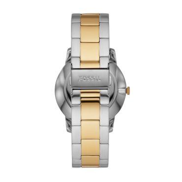 Fossil Herren-Armbanduhr The Minimalist Moonphase analog Quarz mit Edelstahl-Armband FS5572