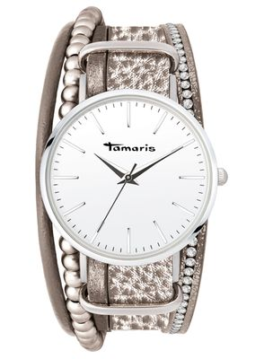Tamaris Damen-Armbanduhr Anna grey analog Quarz TW104