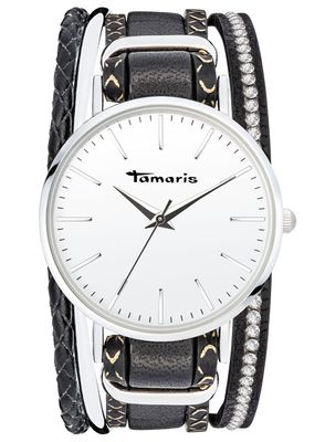 Tamaris Damen-Armbanduhr Anna black analog Quarz TW111