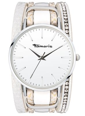 Tamaris Damen-Armbanduhr Anna white analog Quarz TW116
