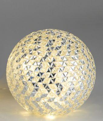 Formano Deko-Kugel inkl. LED-Licht, aus transparentem klarem Mosaikglas, ca. 25cmØ