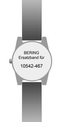 Bering original Ersatzband Uhrenarmband für 10542-467