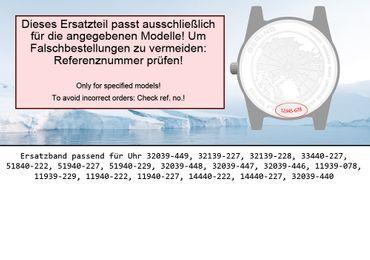 Bering original Ersatzband Uhrenarmband für 11940-222 asia size