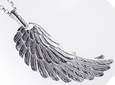 Engelsrufer Anhänger ERW-L2 Flügel groß Silber, rhodiniert