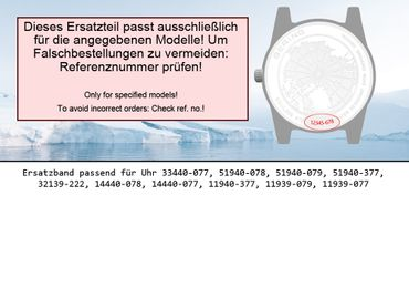Bering original Ersatzband Uhrenarmband für 14440-077 asia size