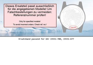 Bering original Ersatzband Uhrenarmband für 15531-700