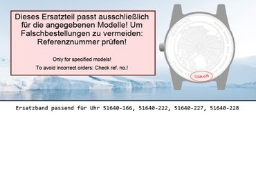 Bering original Ersatzband Uhrenarmband für 51640-227 new size
