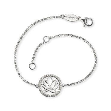 Engelsrufer Armband Lotus mit 32 weißen synth. Zirkonia ERB-LOTUS-ZI