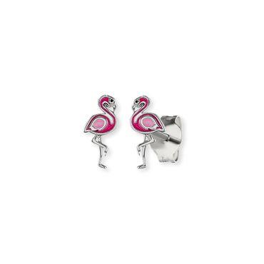 Herzengel Kinder-Ohrstecker Flamingo 925 Sterling Silber rhodiniert HEE-FLAMINGO-ST