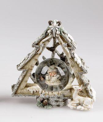 Formano Schüttelkugel mit Santa, in Tanne, ca. 12cm