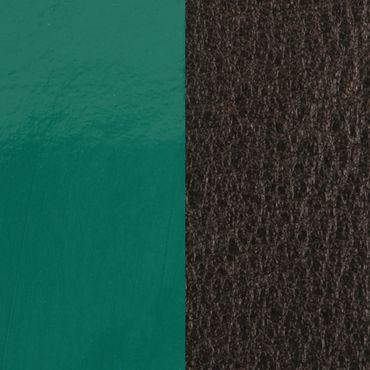 Les Georgettes Ledereinsatz für Armbänder piniengrün leuchtend / braun