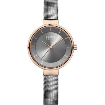 BERING Damen-Armbanduhr Analog Solar Edelstahl 14631-369