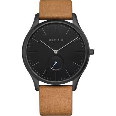 BERING klassische Uhr mit Lederband 16641-522