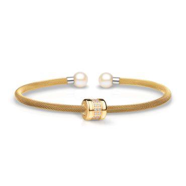 Bering Armspange Mesh vergoldet Perle und Charm Starter-Set BangleSet-11