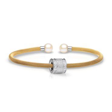 Bering Armspange Mesh vergoldet Perle und Charm Starter-Set BangleSet-12