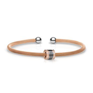 Bering Armspange Mesh rosé Stahl und Charm Starter-Set BangleSet-15