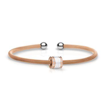 Bering Armspange Mesh rosé Stahl und Charm Starter-Set BangleSet-16