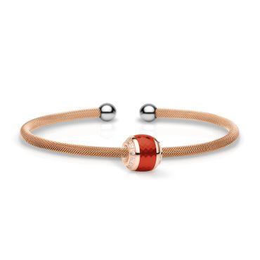 Bering Armspange Mesh rosé Stahl und Charm Starter-Set BangleSet-18