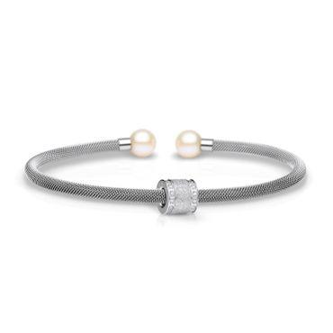 Bering Armspange Mesh Stahl Perle und Charm Starter-Set BangleSet-7