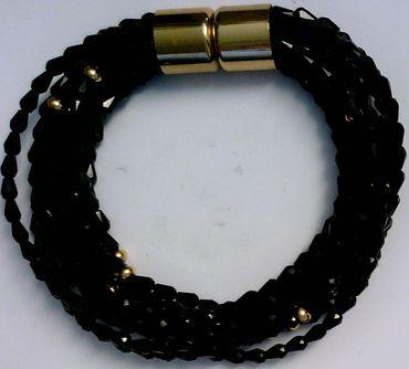 Armband Kristall Edelstahl 20cm