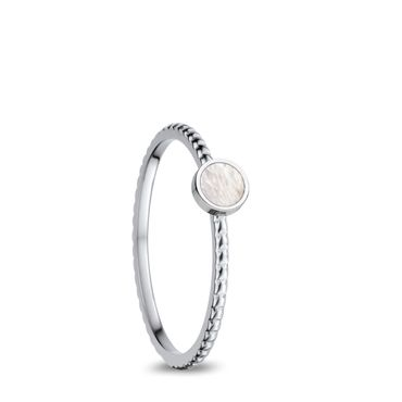 BERING Stapelring Edelstahl silber / perlmutt schmal Arctic Symphony Collection 562-15-X0