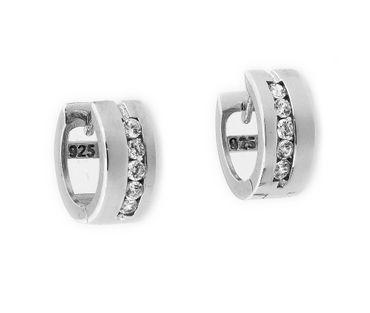 Damen Ohrringe Scharniercreolen Sterling-Silber 925