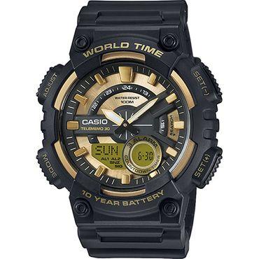 Casio Herren-Armbanduhr Analog/Digital Quarz mit Resin Armband AEQ-110BW-9AVEF