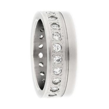 Ring aus Titan mit Zirkonia PTS100