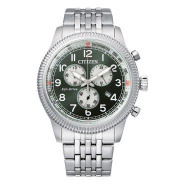 Citizen Herren-Armbanduhre Eco-Drive Analog Chrono AT2460-89X