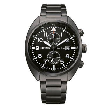 Citizen Herren-Armbanduhr Eco-Drive Analog Quarz CA7047-86E