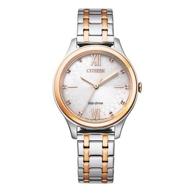 Citizen Damen-Armbanduhr Eco-Drive Analog Quarz EM0506-77A