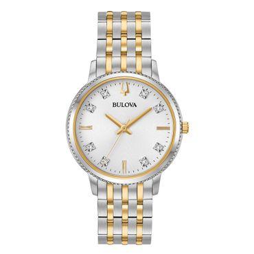 Bulova Damen-Armbanduhr Diamond Analog Quarz 98P189