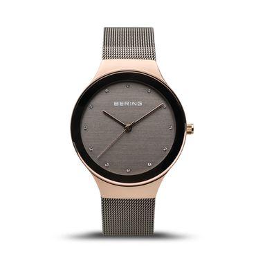 Bering Damenuhr analog Quarz mit Edelstahl-Armband 12934-369
