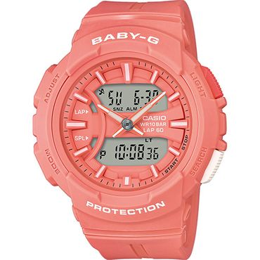Baby-G CASIO Damenuhr analog-digital Quarz mit Resin-Armband BGA-240BC-4AER