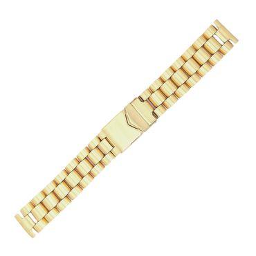 Uhrenarmband Edelstahl vergoldet massiv 20mm