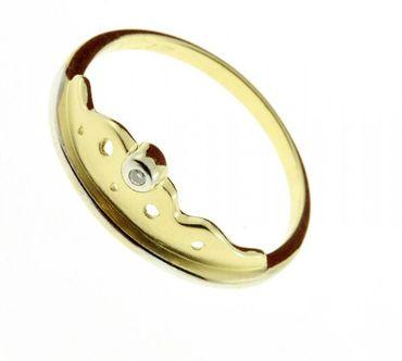 Damen-Ring aus 333 Gold mit Diamant, Ringgröße 58