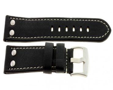 Lederband Vintage mit Nieten schwarz 1362013lb1