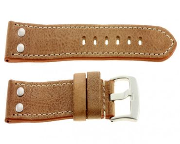 Lederband Vintage mit Nieten helleres braun 1362013lb4