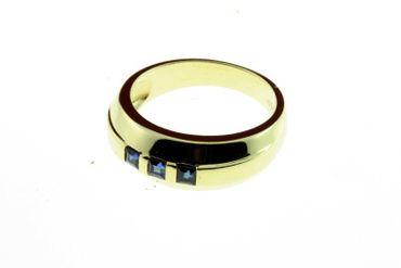 Damen Saphire Ring echt Gold 333 8 Karat 7174 W.56