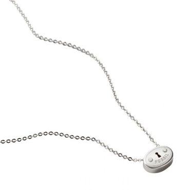 Fossil Damen Collier JA4905040 925 Sterling Silber rhodiniert Damenkette JA4905