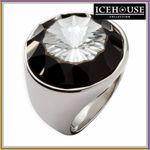 ICEHOUSE Schmuck großer Ring Stein Größe 54 Edelstahl 731071 ICE HOUSE 001