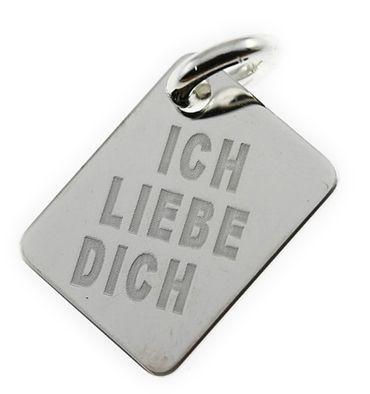 Gravuranhänger Silber 925 Platte 16245 Gratis Gravur