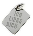 Gravuranhänger Silber 925 Platte 16245 Gratis Gravur 001