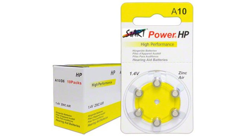 60 StartPower Typ A10  (Hearing Aid Batteries)  1.45V - 100mAh - PR70