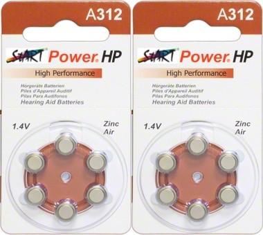 StartPower - 12 Batterien für Hörgeräte - Typ A312 - 1.45V - 160mAh - PR41