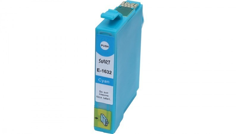Ersatz Chip Patrone kompatibel zu Epson 16XL, T1632 Cyan