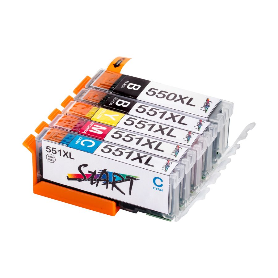 5 Compatible Ink Cartridges to Canon PGI-550 / CLI-551  (BK, PHBK, C, M, Y) XL